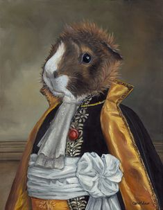 Just look at this little guinea pig, Basil, all dressed up.  Isn't he so adorable?  I love guinea pigs.