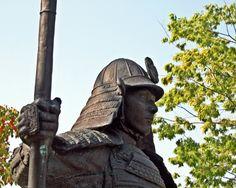 Statue of Oda Nobunaga which stands at the ancient battlefield site in Okehazama #Samurai