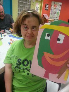 Picasso night #SMILEonDownSyndrome #ArtSmart #CampIdeas #ClassIdeas www.smileondownsyndrome.org