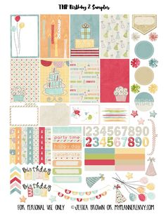 FREE Birthday 2 Sampler for The Happy Planner and the Erin Condren Life Planner…