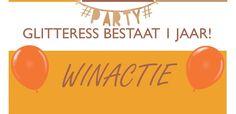 Glitteress bestaat 1 jaar en dat is reden voor een feest! Daarom is er een winactie georganiseerd! Doe mee en kijk op de blog hoe je kan winnen!
