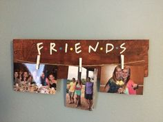 Friends tv show picture hanger with twine. You may choose whether youd like to use your own pins (select 0 clothespins) or use the clothespins as