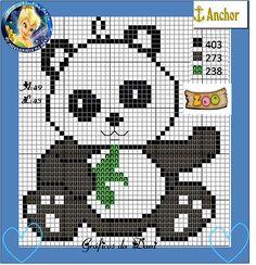 Cross Stitch Alphabet Patterns, Cross Stitch Art, Cross Stitch Animals, Panda Bebe, Baby Pants Pattern, Crochet Panda, Beaded Cross, Plastic Canvas Patterns, Pixel Art