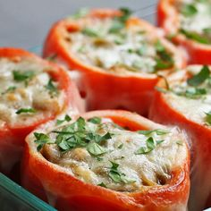 Cheesesteak-Stuffed Peppers Recipe by Tasty