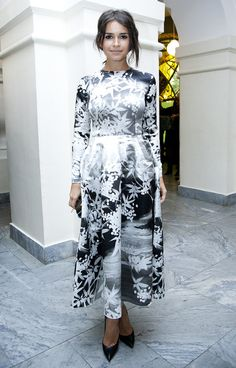 Miroslava Duma looking all adorable in black & white.
