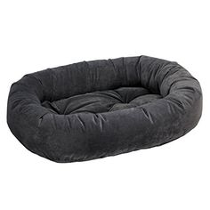 Donut Bed in Charcoal Fabric (2X Large: 55 x 35 x 11 in.) ** Quickly view this special dog product, click the image : dog beds
