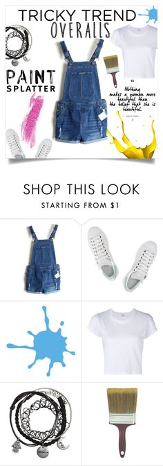 """""""Overalls"""" by ambacasa ❤ liked on Polyvore featuring adidas, RE/DONE, TrickyTrend and overalls"""