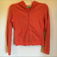 Juicy Couture Zip Hoodie Orange. Size Large.  Great condition. Worn just a few times. Juicy Couture Jackets & Coats