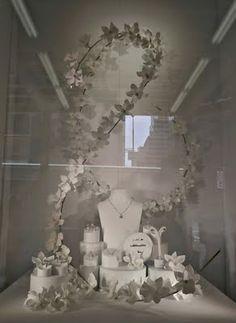 white jewellery display