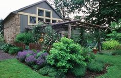 """By attaching the pergola to an existing building, it does not """"float"""" in a space, but is grounded and flows naturally"""