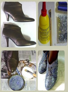 Ankle Glitter boots