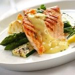 This looks so fresh and delicious! Grilled Salmon With Lemon Herb Butter Sauce