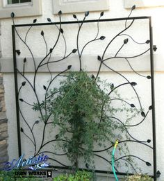 Custom Floral Wrought Iron Trellis