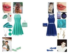 """""""double date with Ayla"""" by creative-with-fashion ❤ liked on Polyvore featuring Shoshanna, Salvatore Ferragamo, Charlotte Tilbury, Hermès, MAC Cosmetics, StyleStalker, Tiffany & Co., Pandora, Bling Jewelry and Paul Brodie"""