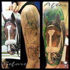 love it #horse #tattoo #horsetattoo #racehorse #racehorsetattoo