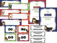 Printables for a dog themed classroom!