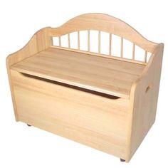 Toy Box Bench Natural Kidkraft Toyboxes Kids Furniture Childrens