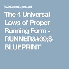 The 4 Universal Laws of Proper Running Form - RUNNER'S BLUEPRINT