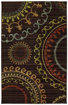 5370x1  5 x 8 $125.00 Mohawk Home - Mohawk Home New Wave New Suzani Panel Multi Area Rug #95370