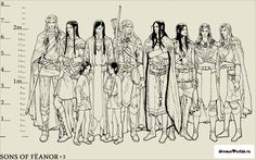Tags: The Lord of the Rings, Artist Request, Celegorm, Elrond, Maedhros, Maglor, Fingon, Amras, Amrod, House of Fëanor, Caranthir, Curufin