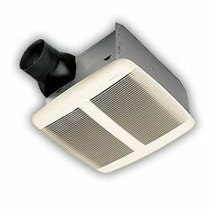 Broan-Nutone QTRE080FLT Ultra Silent Bathroom Fan / Light / Night-Light - ENERGY STAR Nearly silent operation. 80 CFM, 0.8 sones (AMCA). 36 Watt light and 4 Watt nightlight. ENERGY STAR qualified, Title 24 compliant. Grille dimensions: 12.375L x 14W in..  #Broan-NuTone #Home_Improvement