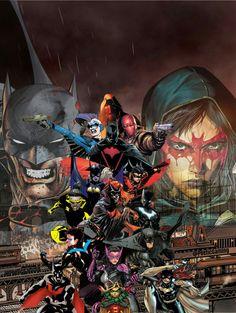 The whole batfam Batgirl, Catwoman, Nightwing, Dc Comics Art, Marvel Dc Comics, Gotham, Batman Artwork, Univers Dc, Harley Quinn