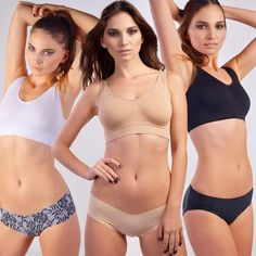 Comfy Bra Essentials Trio, $39, now featured on Fab #nudwear1013 #pintowin