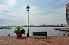The harbor, just across the street in Fells Point