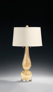 Decorative Crafts' gold Venetian glass Lamp. Hand blown in Murano, Italy #TableLamp #Lamp #Lighting #LightingFixture #LightFixture #InteriorDesign #Design #InteriorDecor #Decor #Interior #RoomDesign #Elegant #Luxurious #Refined #Imported #Italian #venetian #venetianglass #glass #lighting #furnishings #homedecor #design #luxuryinterior #homedesign #dekorasyon #highend #luxe