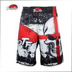 #DSS-0001, SUOTF MMA Men Black Thai Boxing Skull Trunks