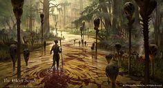 Elder Scrolls Online Murkmire 6, Jeremy Fenske on ArtStation at https://www.artstation.com/artwork/Drrn
