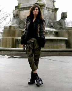throwing it back... #EmmanuelleAlt ready for combat in Paris.