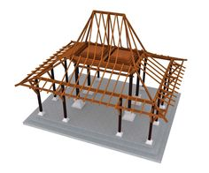 """BBC Boracay says: """" We use hardwood and bamboo to build the construction of the roof and cover it later with Nipa, Ambulong or Cogon Grass..."""" (JOGLO The Diversity Of Gazebo Design)"""