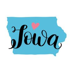 Each element of my hand-lettered and illustrated state art designs are separate so you can change the sizes of the heart and state names as you please! Silhouette Cameo Projects, Silhouette Design, State Image, Kids Scrapbook, Instagram Highlight Icons, Designs To Draw, Art Designs, State Art, Iowa