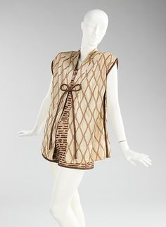 Beachwear by Carolyn Schnurer (American, born New York, 1908–1998 Palm Beach, Florida) Manufacturer:Textile manufactured by Hollander Date:1952 ~ The Met