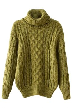 To find out about the Green Long Sleeve High Neck Cable Sweater at SHEIN, part of our latest Sweaters ready to shop online today! Warm Sweaters, Sweaters For Women, Curvy Girl Fashion, Womens Fashion, Green Turtle, Cable Knit Sweaters, Nordstrom, Turtle Neck, Knitting