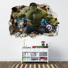 3d Avengers Photo Wallpaper Custom Hulk Wallpaper Unique Design Bricks Wall Mural Art Room Decor