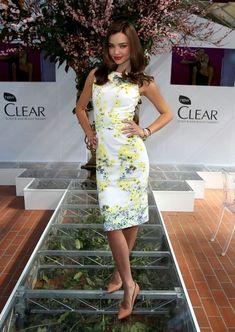 Pretty floral prints. Miranda Kerr Looks - StyleBistro