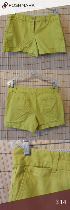 Ann Taylor LOFT shorts - size 2 Awesome chartreuse shorts. Excellent condition. Color is true. LOFT Shorts