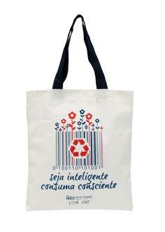 """EcoBag Ecológicas - """"Seja inteligência Consuma consciente""""  Lindas ecobags ecológicas em algodão cru e PET reciclado. Seguindo a tendência mundial, a AMA TERRA desenvolveu um produto de alta qualidade e resistência, com estampas exclusivas, preservando o bom gosto e a versatilidade.  Colecione essa ideia!!!  http://www.revendaamaterra.com.br/loja/espaco-ngmarketplace"""