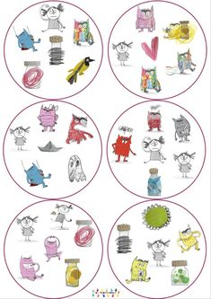 La couleur des émotions : dobble – MC en maternelle Emotional Pictures, English Worksheets For Kids, Petite Section, Monster, Kindergarten, About Me Blog, Positivity, Animation, Shapes