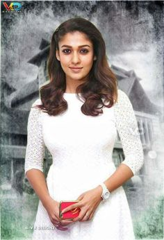 Most Beautiful Indian Actress, Beautiful Actresses, Cute Celebrities, Celebs, Nayanthara Hairstyle, Frocks And Gowns, Ikkat Dresses, Stylish Dresses For Girls, Bollywood Actress Hot