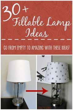 Stumped on what to put inside your fillable lamp? There are THIRTY awesome ideas in this post, including a tutorial on how to make a flying airplane fillable lamp!