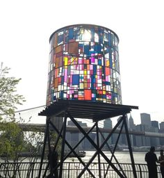 Found Art: Stained Glass Water Tower