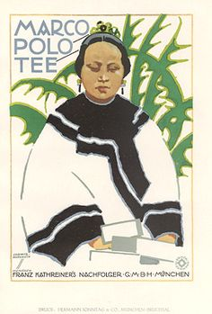 By  Ludwig Hohlwein, 1 9 2 6, Marco Polo Tee.(G)