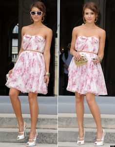 Jessica Alba in Christian Dior. One of my all time favorite spring dresses.