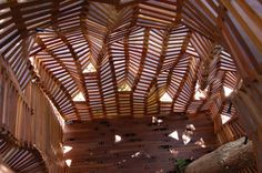Knit Fort 02 / interior view of an amazingly sculptural hideaway by Matt Gagnon Studio.