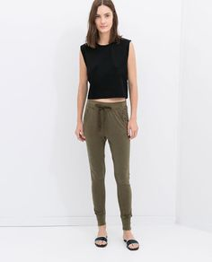 Image 1 of FADED VELOUR TROUSERS from Zara