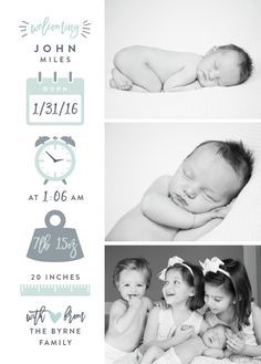 Excellent baby nursery info are offered on our web pages. Check it out and you wont be sorry you did. Newborn Birth Announcements, Baby Announcement Cards, Baby Boy Scrapbook, Foto Baby, Baby Arrival, Baby Born, Baby Pictures, Newborn Photography, Photography Ideas