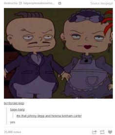 Phil and Lil, AKA Johnny Depp and Helena Bonham Carter